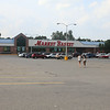 Parking lot of Market Basket at East Gate Plaza in Lowell, around 5pm, as many customers are shopping elsewhere in support of employees hoping to have Arthur T. Demoulas reinstated. (SUN/Julia Malakie)
