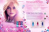 C-THRU The Collection  (Blu Opal - Ruby - Purple Diamond)<br /> 2009 US (Walmart stores)<br /> recto-verso with 3 scented stickers<br /> 'It's all about you - The collection of fragrances'