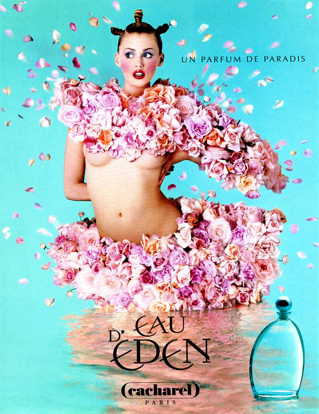 CACHAREL Eau d'Eden 1997 France 'Un parfum de paradis'<br /> MODEL: Estella Warren; PHOTO: Jean-Paul Goude