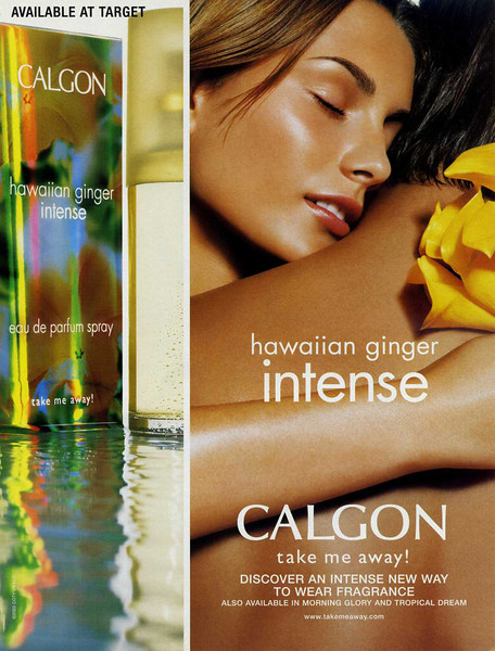 CALGON Hawaiian Ginger Intense 2003 US (Target stores) 'Take me away!'