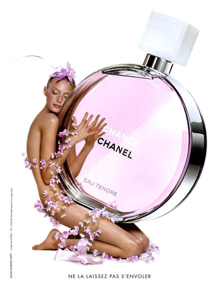 CHANEL Chance Eau Tendre 2010 France 'Ne la laissez pas s'envoler' MODELE: Sigrid Agren (France), PHOTO: Jean-Paul Goude