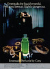 COTY Emeraude 1979 US 'Emeraude, the liquid emerald Precious Sensual Slightly dangerous'