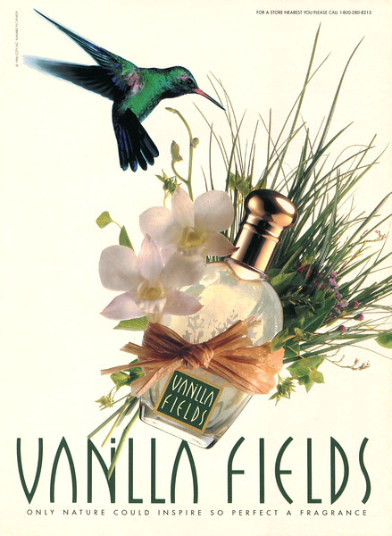 COTY Vanilla Fields 1996 Canada 'Only nature could inspire so perfect a fragrance'