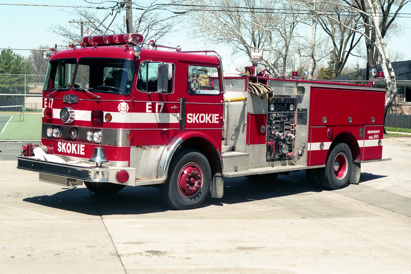 SKOKIE  ENGINE 17   1973 PIRSCH  1250-300