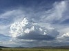 Afternoon thunderheads moving in.