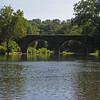162 Stone B&O Railroad bridge across the mouth of the Cacapon River