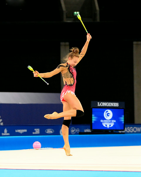 July 23, 2014 - Team Canada Rhythmic Gymnastics team practice at the 20th Commonwealth Games in Glasgow, Scotland. <br /> <br /> If you have any questions don't hesitate to reach out to us!<br /> <br /> Thanks!<br /> <br /> Photos by Al Milligan, Al Milligan Images, 2014