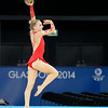 July 24, 2014 - Nikara Jenkins of Wales doing her Ball routine during the Individual Qualification - Rhythmic Gymnastics at the 20th Commonwealth Games in Glasgow, Scotland. <br /> <br /> If you have any questions don't hesitate to reach out to us!<br /> <br /> Thanks!<br /> <br /> Photos by Al Milligan, Al Milligan Images, 2014