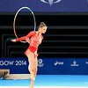 July 24, 2014 - Maria Kitkarska of Canada doing her Hoop routine during the Individual Qualification - Rhythmic Gymnastics at the 20th Commonwealth Games in Glasgow, Scotland. <br /> <br /> If you have any questions don't hesitate to reach out to us!<br /> <br /> Thanks!<br /> <br /> Photos by Al Milligan, Al Milligan Images, 2014