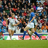 July 27, 2014 - Rugby Sevens - Canada vs. Cook Island , Classification 9th - 10th, during the Rugby Sevens at the 20th Commonwealth Games in Glasgow, Scotland.  Final score of the game was Canada 50 and the Cook Islands 7.