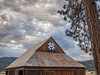 Barn with Quilt Pattern on Cloudy Morning, Quincy CA