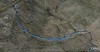 Track on Google Earth Satellite Image - This section shows from where I dropped off the PCT to Crag Peak.