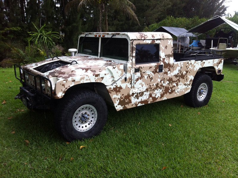 Custom Camo Wrap, Hummer, Dallas, TX