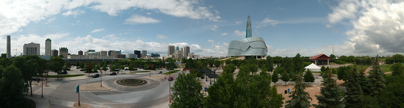 Sightseeing at the Forks in Winnipeg