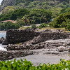 Ruins of the old wharves and warehouses on the beach - St. Eustatius
