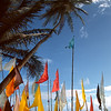 Hindu prayer flags add extra colour to Manzanilla beach