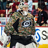 Anton Khudobin. March 16, 2014. Carolina Hurricanes vs. Edmonton Oilers, PNC Arena, Raleigh, NC. Copyright © 2014 Jamie Kellner. All Rights Reserved.