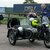 Vintage BMW motorcycle with sidecar