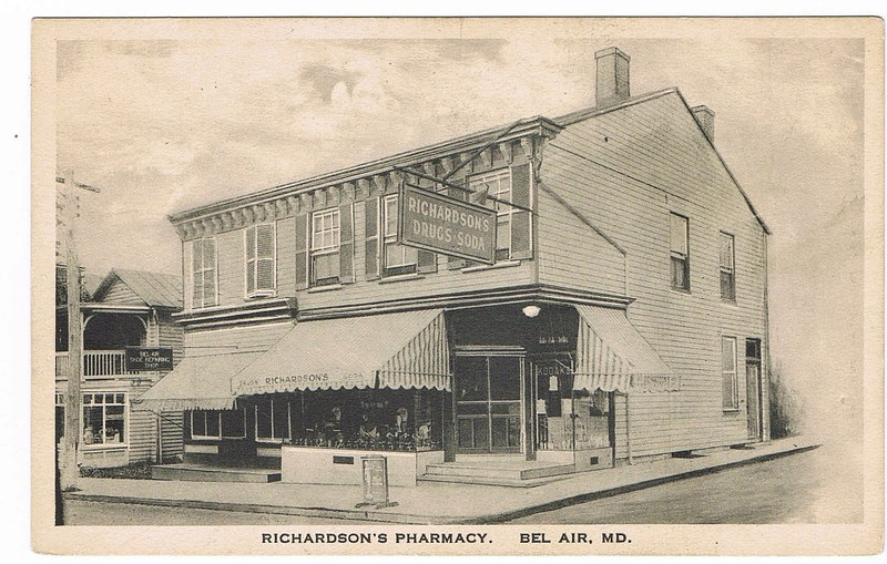 Richardsons Drug Store Main St Bel Air MD 1934