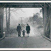 1944 view of a family walking in the Jericho Bridge
