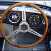 "Steering wheel of 1961 Austin-Healey Sebring Sprite Roadster. Originally campaigned as part of the famous ""Briggs Cunningham"" team, at Sebring (1961) where it placed 8th overall. Recently restored to perfection. (Source: http://www.mecum.com/auctions)"