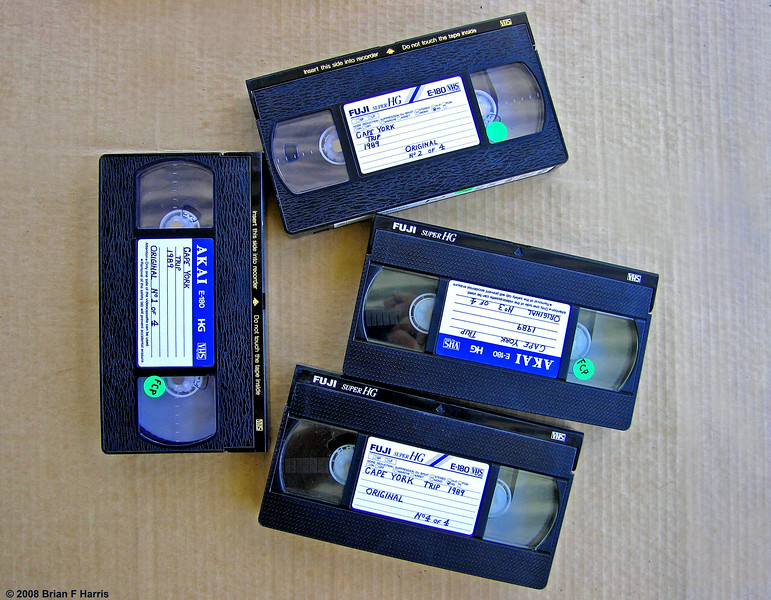4 x 3 Hour VHS Video Tapes .. Cape York 1989 4x4 Adventure.