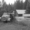 Old GMC logging truck in Garnet ghost town, Montana