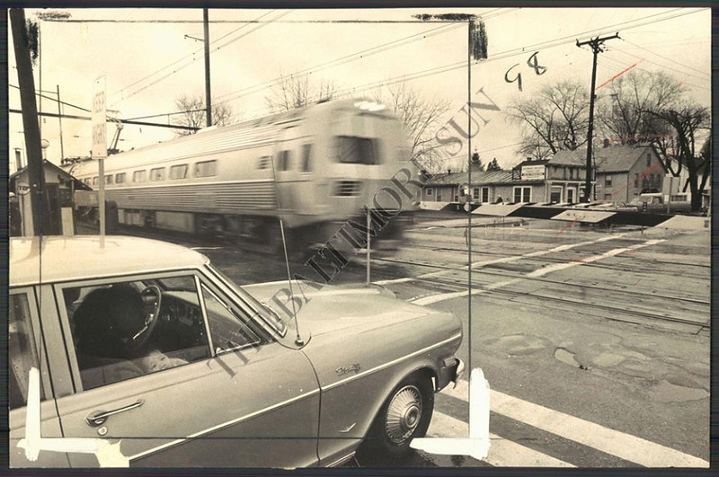 1966 Old Railroad crossing at Pennsylvania Ave in Aberdeen,Md