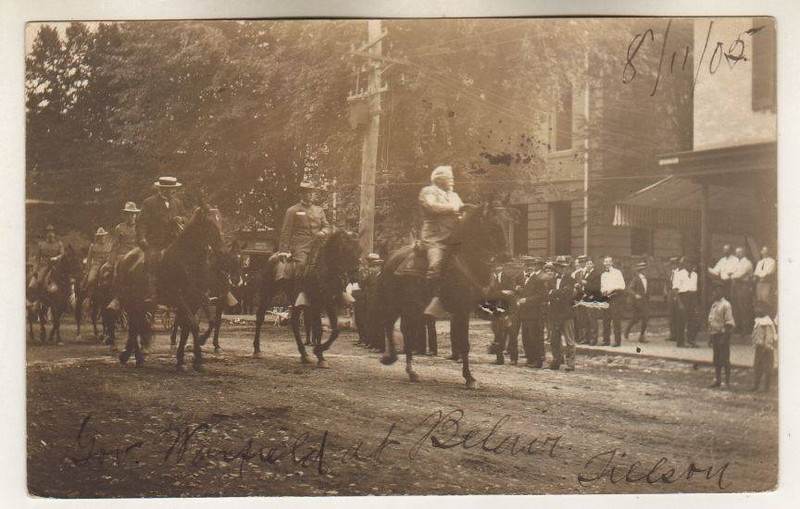 August 11  1905 shows Maryland Governor Edwin Warfield riding in a parade BEL AIR