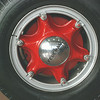 Federal fire truck front wheel