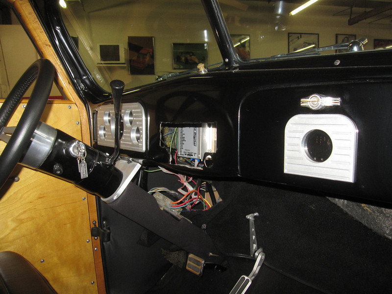 2013 December 20 1937 Ford Woody Wagon dash board. First of 8 new photos.