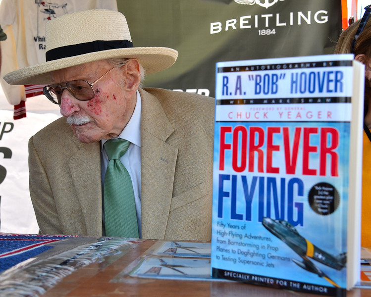 BOB HOOVER AND BOOK, CHINO, 2013