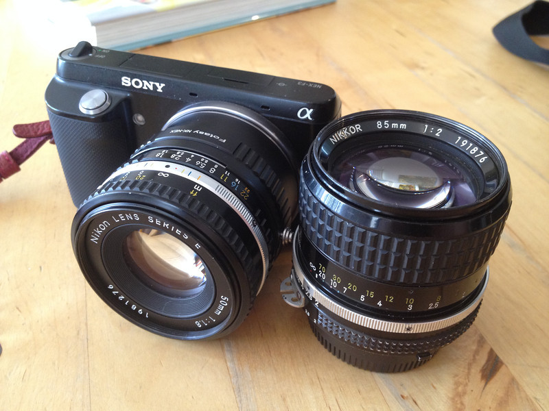 the only lenses i shot with this year. vintage nikkor 85mm f2 and 50mm 1.8 on a NEX F3