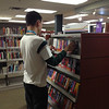 Colin helps shelve paperback fiction at CSD as part of his work experience. December 2013