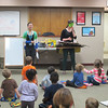 Pam and Rebekah entertain kids with entertaining stories and activities during Family Storytime at CSD, 05/29/14.