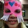 A girl shows off her superhero mask at Castle Down's Masks of Mystery program.  31/3/2014