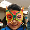 Tia Rainbow Girl shows off her superhero mask at Castle Down's Masks of Mystery program.  31/3/2014
