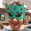 Super Sarah shows off her superhero mask at Castle Down's Masks of Mystery program.  31/3/2014