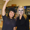 Stacey as a graduate and Tam-Lynn in her Day of the Dead makeup.