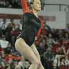 Lindsey Cheek competes on the balance beam during an NCAA women's gymnastics meet between the University of Georgia and the University of Kentucky on Saturday, February 1, 2014 in Athens, Ga. (Photo by Sean Taylor)