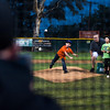 Jacob Turowletz, 8,  checks his pitch speed during the Upland Foothill Little League  opening night,  at San Antonio Park in Upland, on Friday, March 7, 2014. (Photo by Frank Perez for the Inland Valley Daily Bulletin)