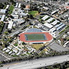 An aerial view of Redlands High School's Dodge Stadium is seen from the Air Support Unit of the Redlands Police Department, a 1967 Cessna 172, on Friday, March 20, 2015 in Redlands, Ca. (Micah Escamilla/Redland Daily Facts)