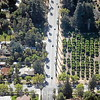 An aerial view of Cajon Street at Prospect Park is seen from the Air Support Unit of the Redlands Police Department, a 1967 Cessna 172, on Friday, March 20, 2015 in Redlands, Ca. (Micah Escamilla/Redland Daily Facts)