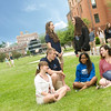 Westfield State University Student Tour Guides on the Campus Green- Summer 2013