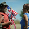 Protesters gather as more buses full of Central Americans are expected to arrive at the Murrieta Border Patrol Station on Friday, July 4, 2014 in Murrieta, Ca. (Micah Escamilla/The Sun)