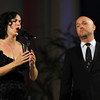 Erin Shields, left, and Giuseppe Spoletini, of O Sole Trio, perform at the Redlands Bowl on Friday, July 18, 2014 in Redlands, Ca. (Micah Escamilla/Redlands Daily Facts)