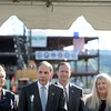 Secretary of Veterans Affairs Robert McDonald, center, speaks during a visit the construction site of the new Ambulatory Care Center and is joined by Barbara Fallen, Medical Center Director, VA Loma Linda Healthcare System, Robert Mckenrick, Director of Los Angeles Regional offices, VBA, and Skye McDougall, Acting Network Director VISN 22 Department of Veterans Affairs, on Tuesday, January 27, 2015 in Loma Linda, Ca. (Photo by Micah Escamilla/The Sun)