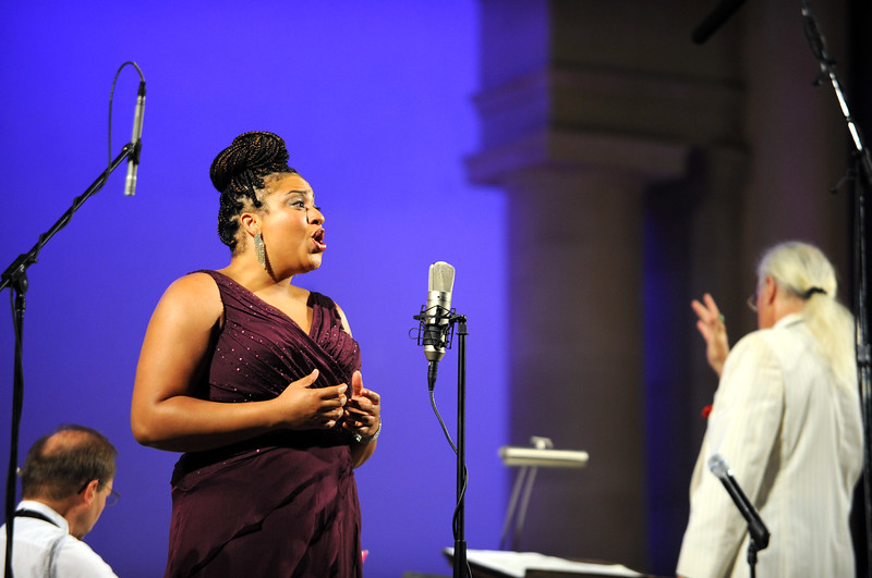 Candace Bogan sings during the Shakespeare and Friends at the Opera program on Friday, July 25, 2014 at the Redlands Bowl in Redlands, Ca. (Micah Escamilla/Redlands Daily Facts)