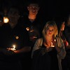 Friends, family members and classmates hold a candlelight vigil for missing student, Sahray Barber, 22, on Friday, March 13, 2015 at the Art Institute of California Inland Empire in San Bernardino, Ca.  (Photo by Micah Escamilla/The Sun)