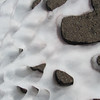 128 patterns in the melting snow